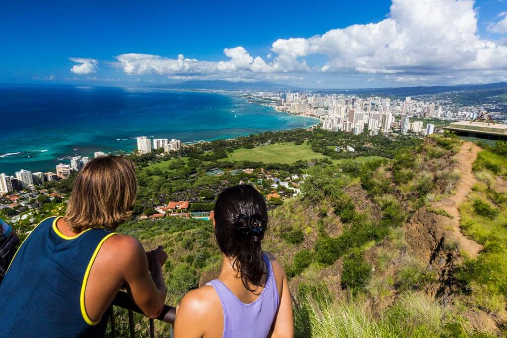 Views from Diamond Head summit, Hawaii Tourism Authority (HTA) / Tor Johnson