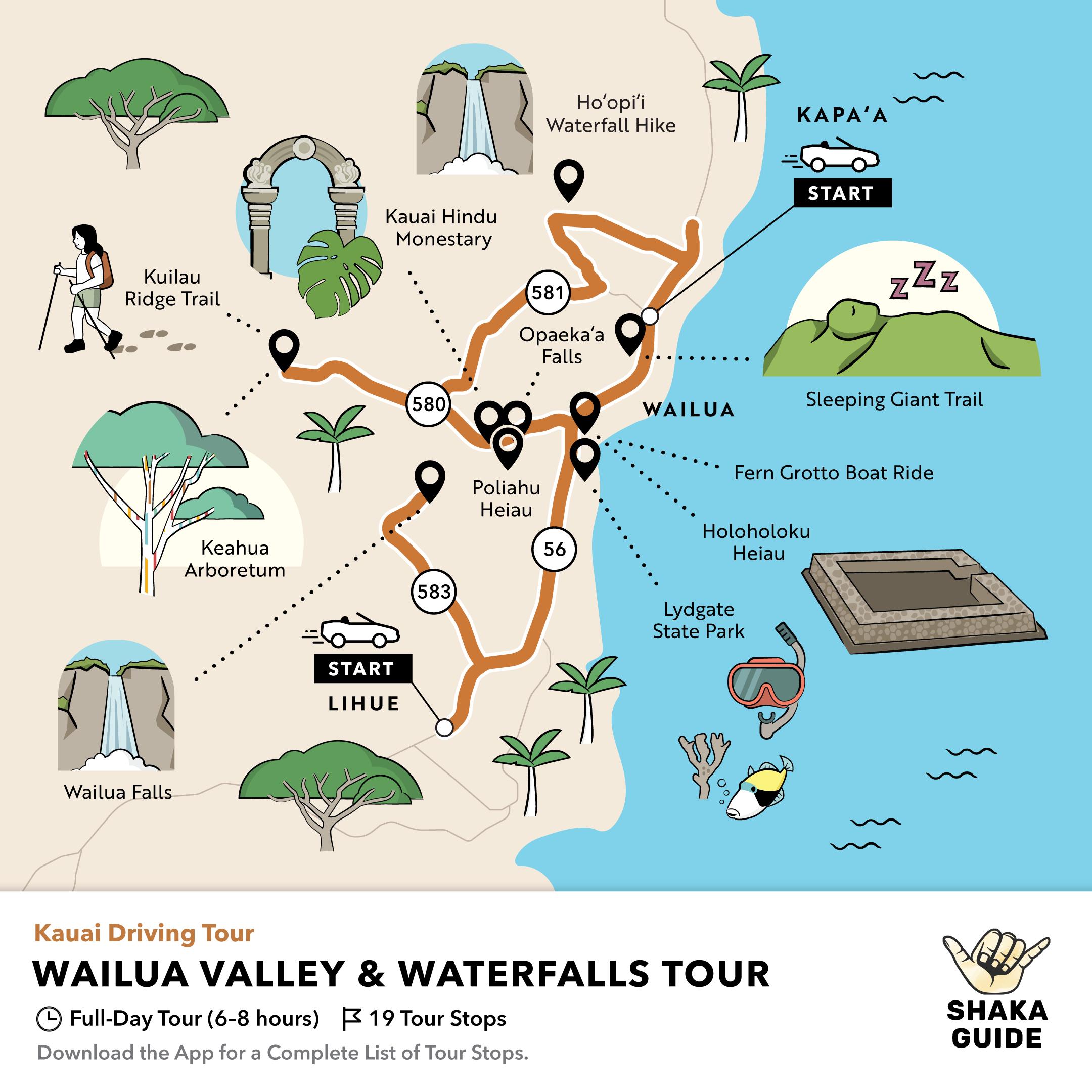 Shaka Guide's Wailua Valley and Waterfalls Tour