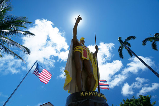 King Kamehameha Statue, Shaka Guide's Kohala Coast Backcountry Tour