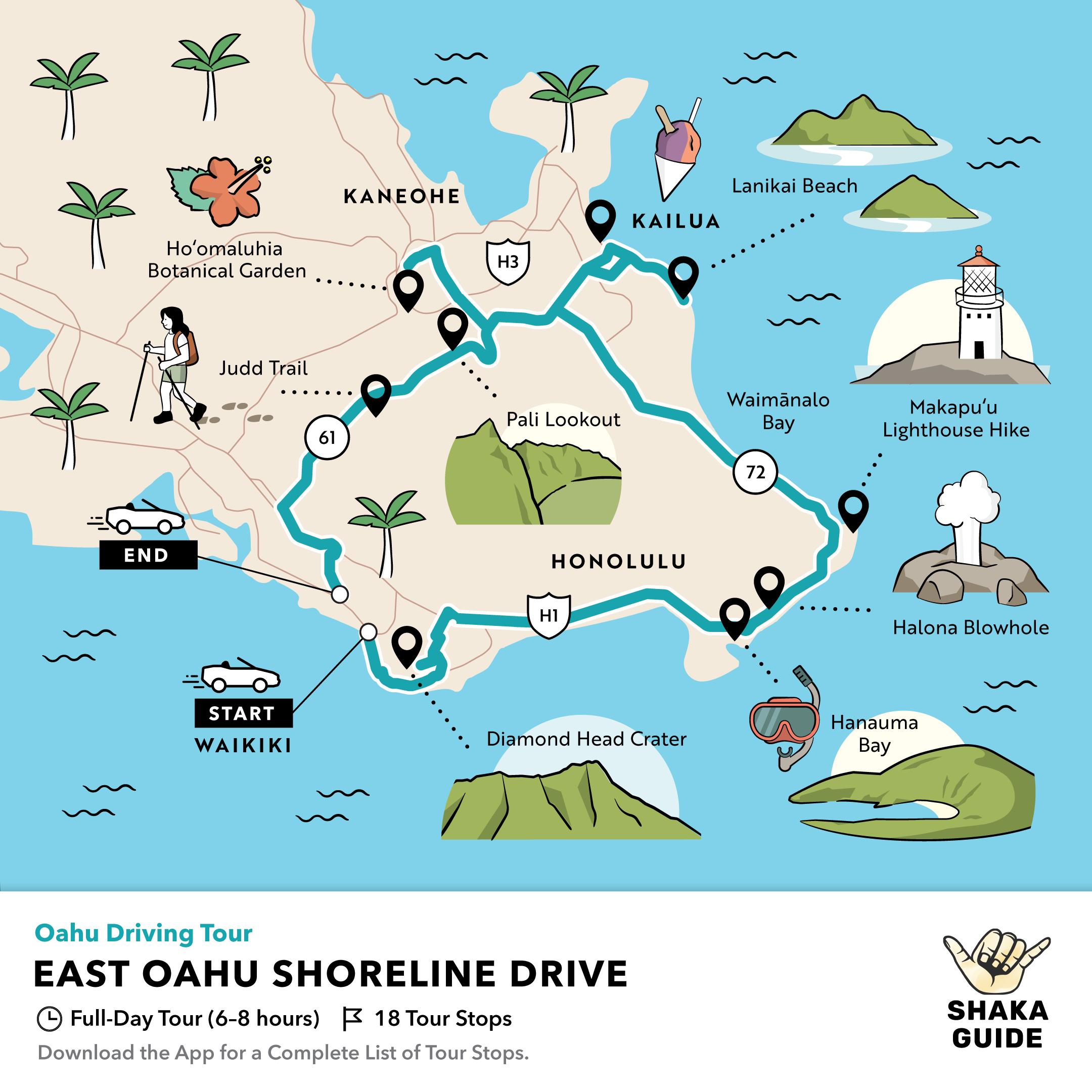 Shaka Guide's East Oahu Shoreline Drive