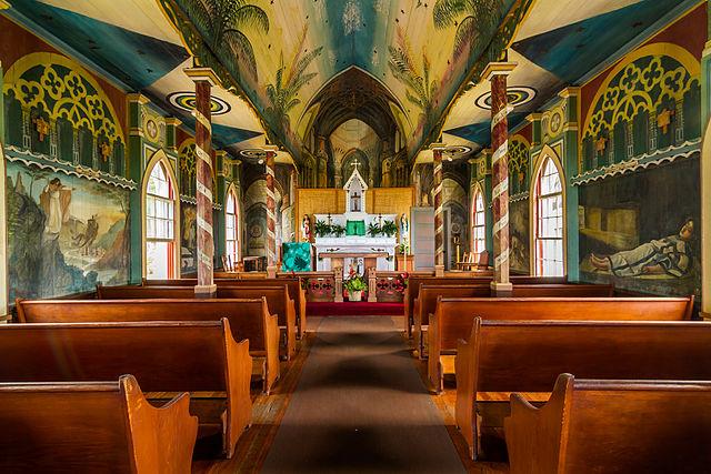 st benedict painted church big island shaka guide hawaii