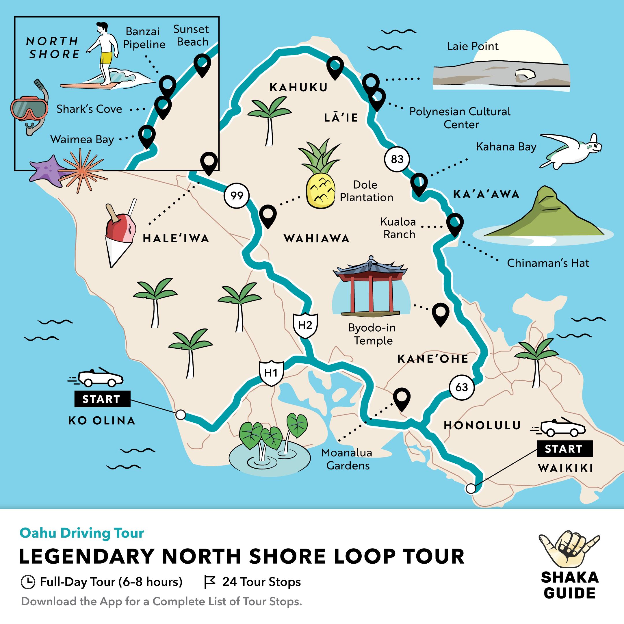 Shaka Guide's Legendary North Shore Loop