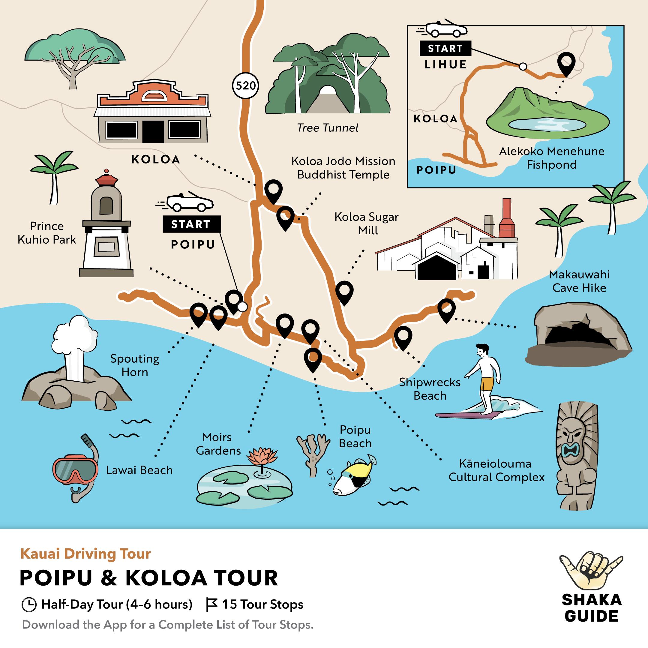 Shaka Guide's Poipu and Koloa Driving Tour