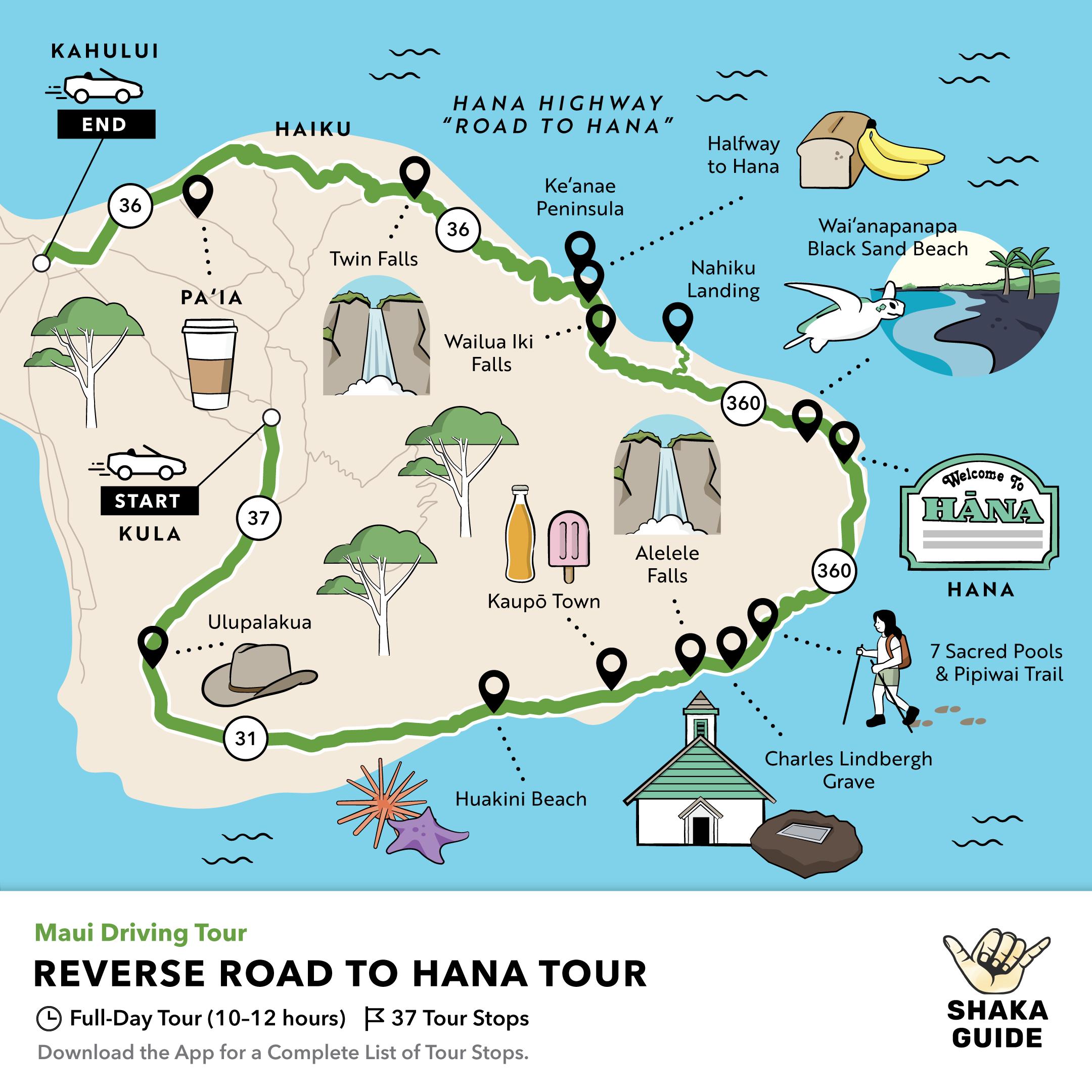 Shaka Guide's Reverse Road to Hana Driving Tour, Shaka Guide Road to Hana Tour Comparison