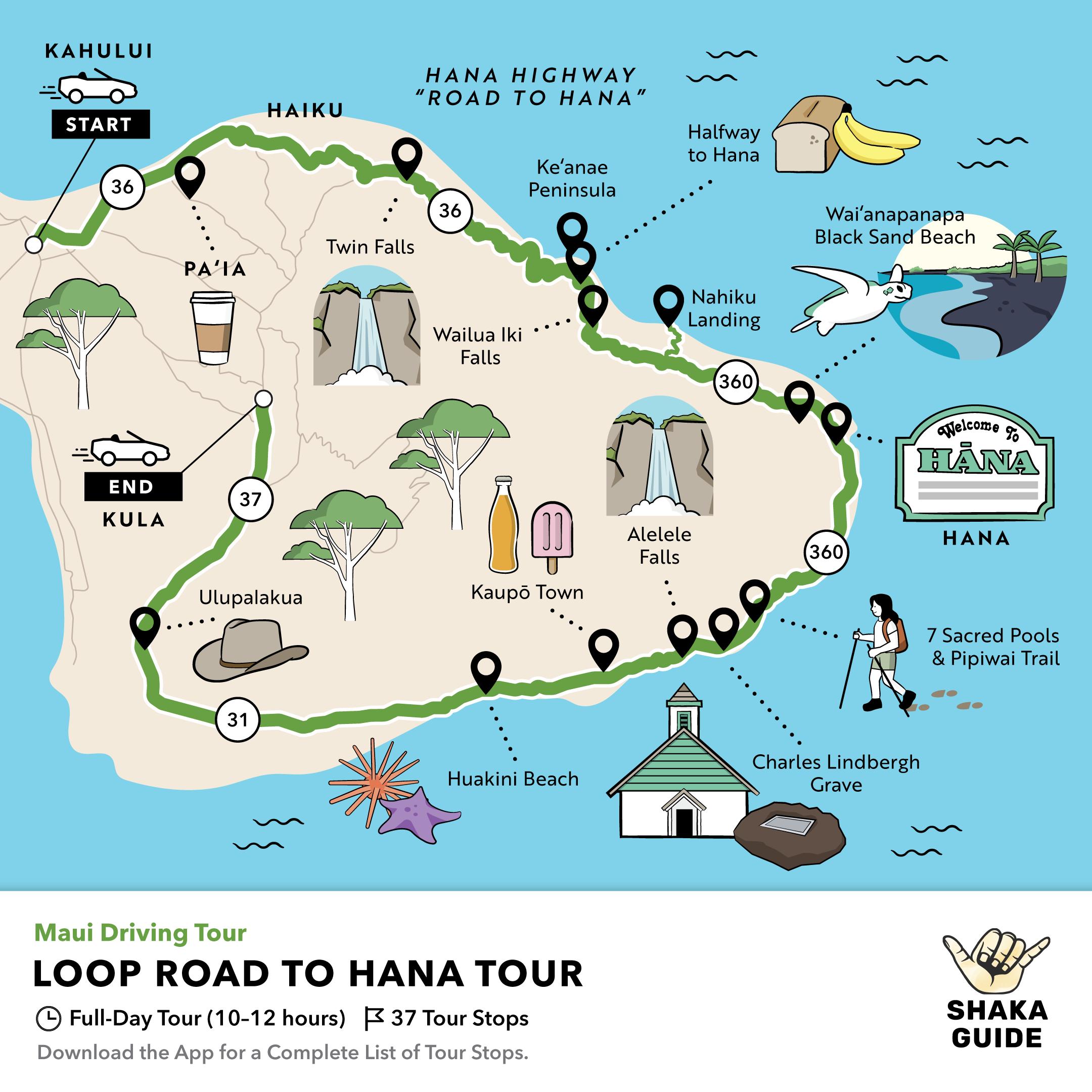 Shaka Guide's Loop Road to Hana Driving Tour, Shaka Guide Road to Hana Driving Tour Comparison